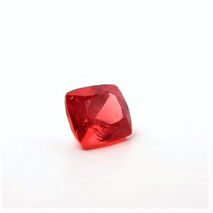 Spinell - Cushion Orange/Red faceted 0,95ct. 5x5,8mm (1730A)