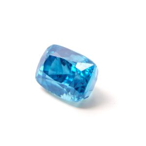 Zircon – Natural blue Cushion Faceted 11,39ct 8,5×12,5×9,1mm (1682)